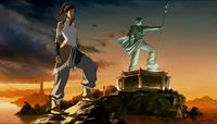 Korra-next-to-statue